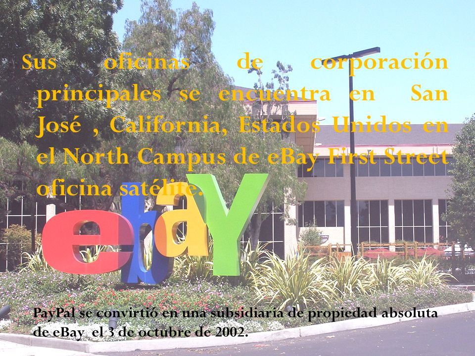Sus oficinas de corporación principales se encuentra en San José , California, Estados Unidos en el North Campus de eBay First Street oficina satélite.