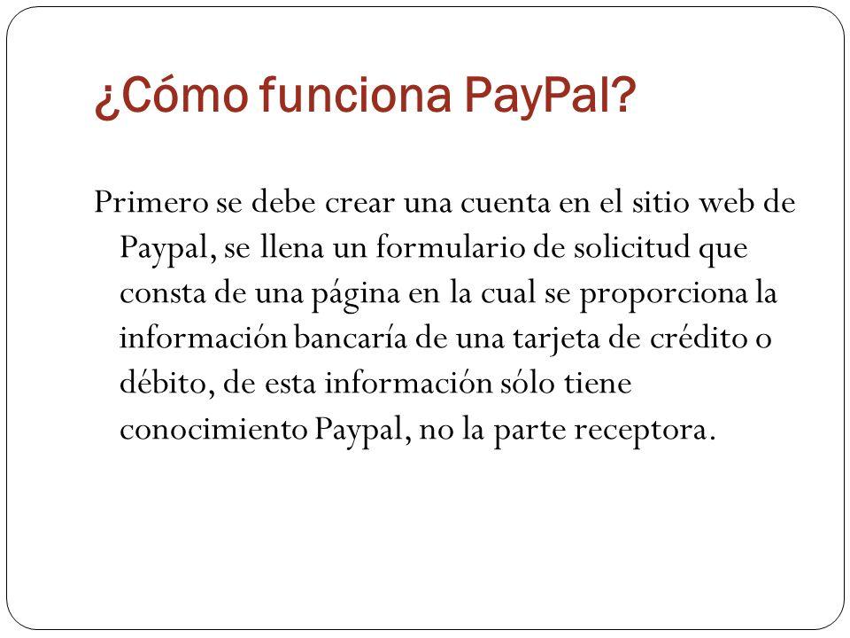 ¿Cómo funciona PayPal