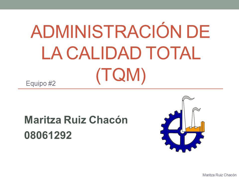 Administración de la Calidad Total (TQM)