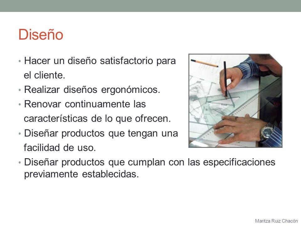 Diseño Hacer un diseño satisfactorio para el cliente.