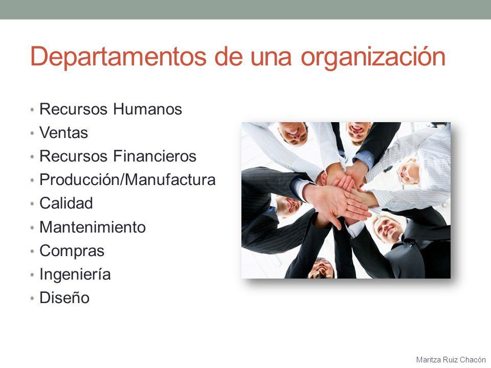 Departamentos de una organización