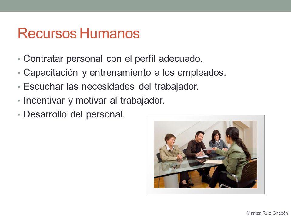Recursos Humanos Contratar personal con el perfil adecuado.