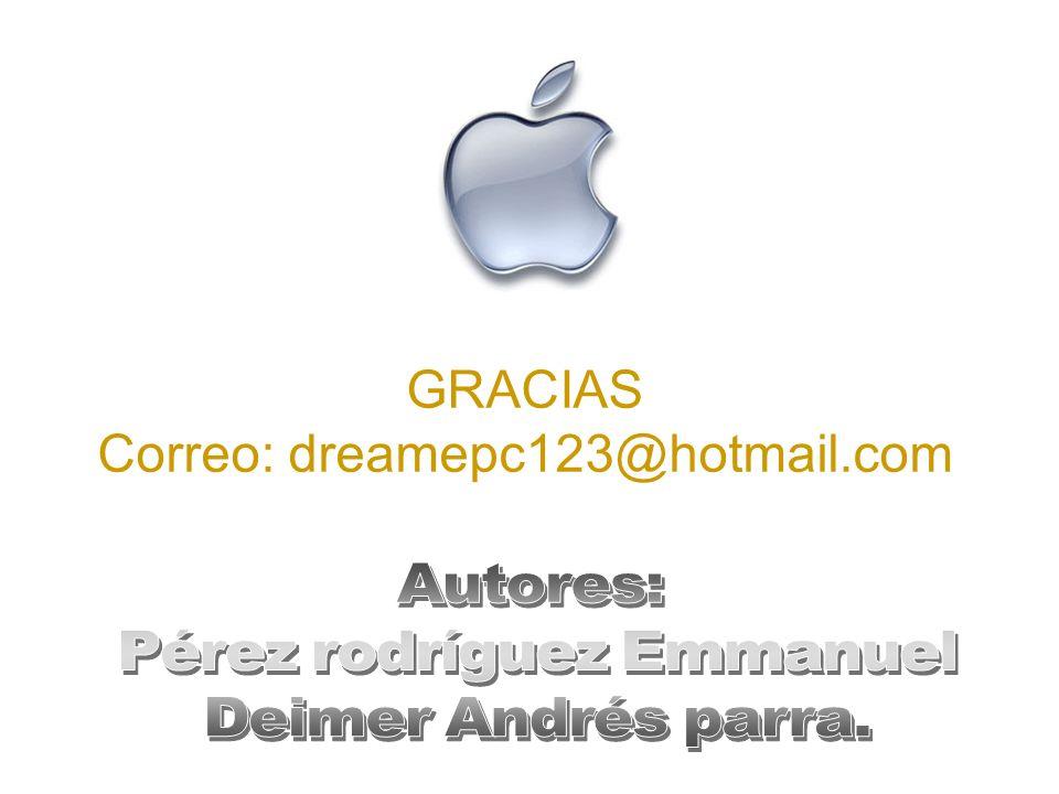 Correo: dreamepc123@hotmail.com