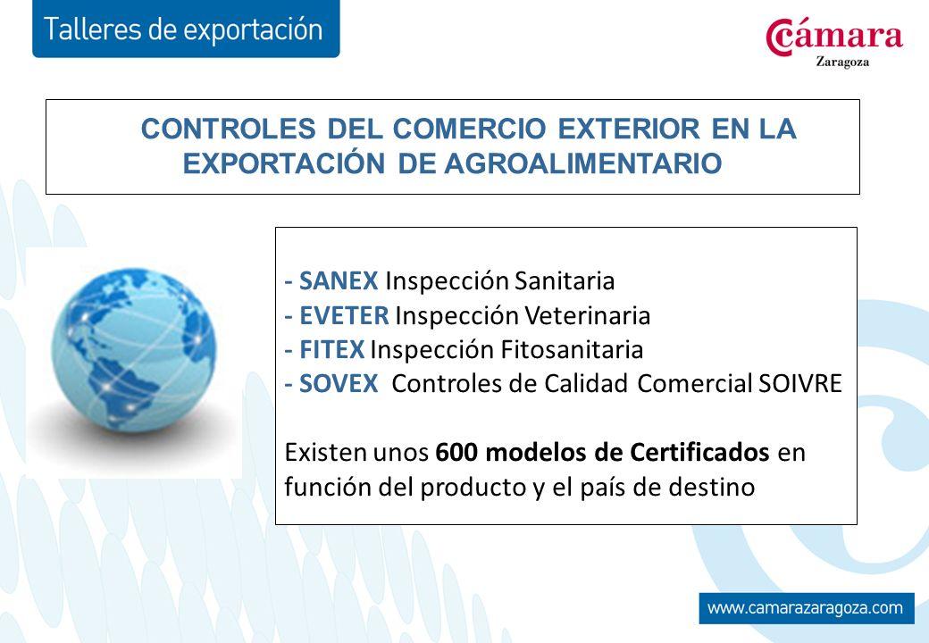 CONTROLES DEL COMERCIO EXTERIOR EN LA EXPORTACIÓN DE AGROALIMENTARIO