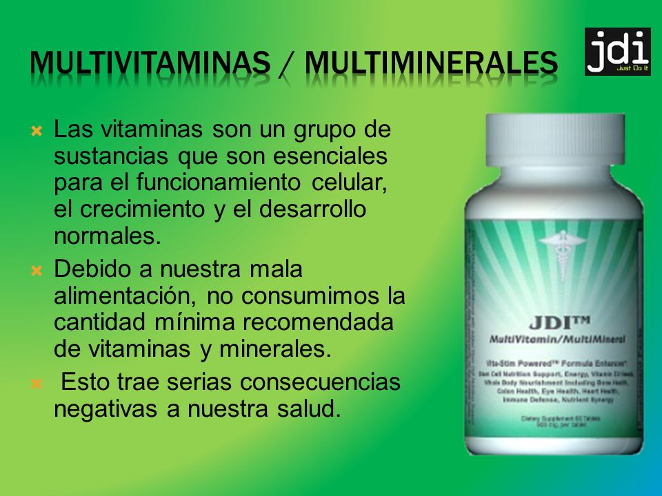Multivitaminas / multiminerales