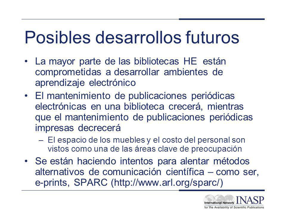 Posibles desarrollos futuros