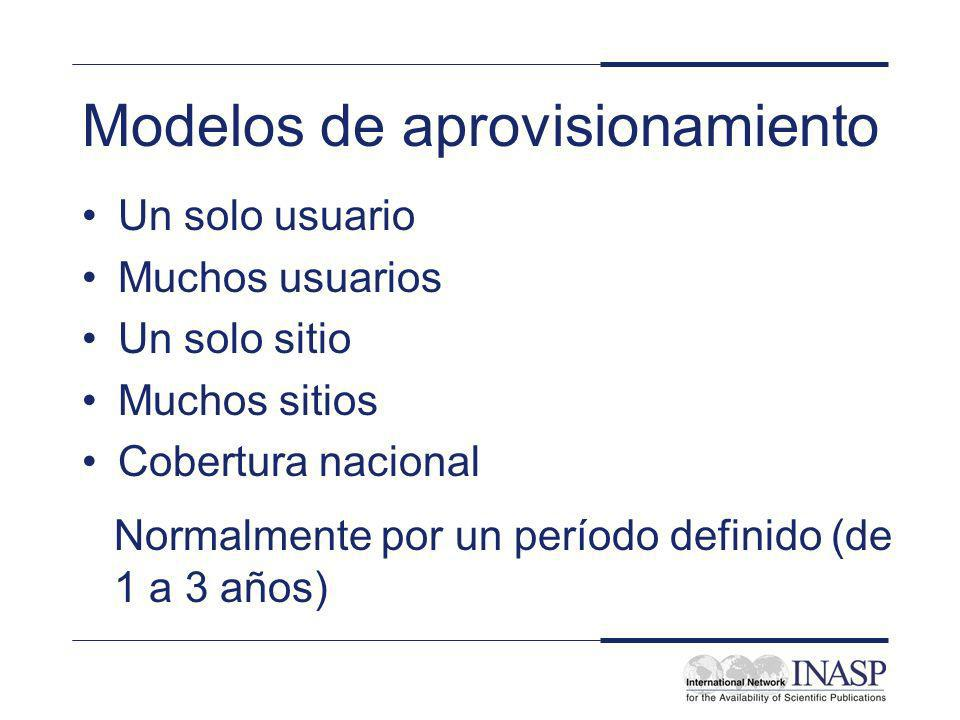 Modelos de aprovisionamiento