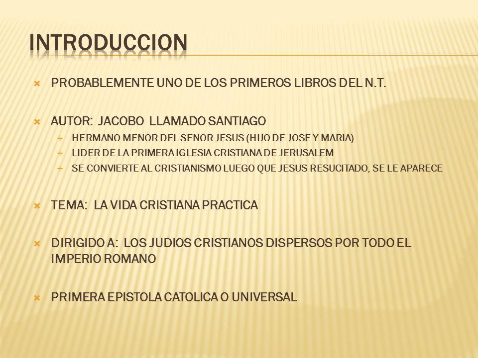 INTRODUCCION PROBABLEMENTE UNO DE LOS PRIMEROS LIBROS DEL N.T.