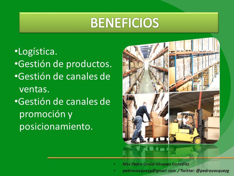 BENEFICIOS Logística. Gestión de productos. Gestión de canales de