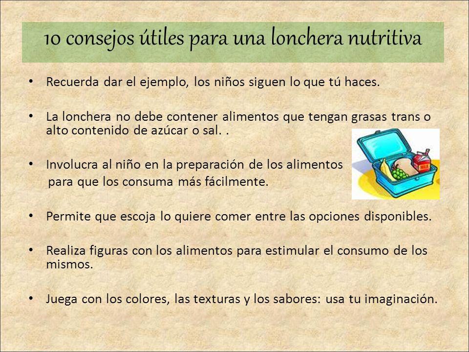 10 consejos útiles para una lonchera nutritiva