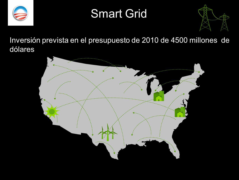Smart Grid . Inversión prevista en el presupuesto de 2010 de 4500 millones de dólares.