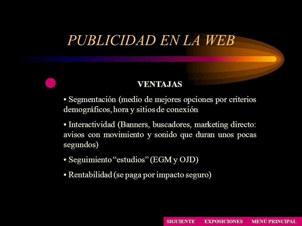 PUBLICIDAD EN LA WEB VENTAJAS