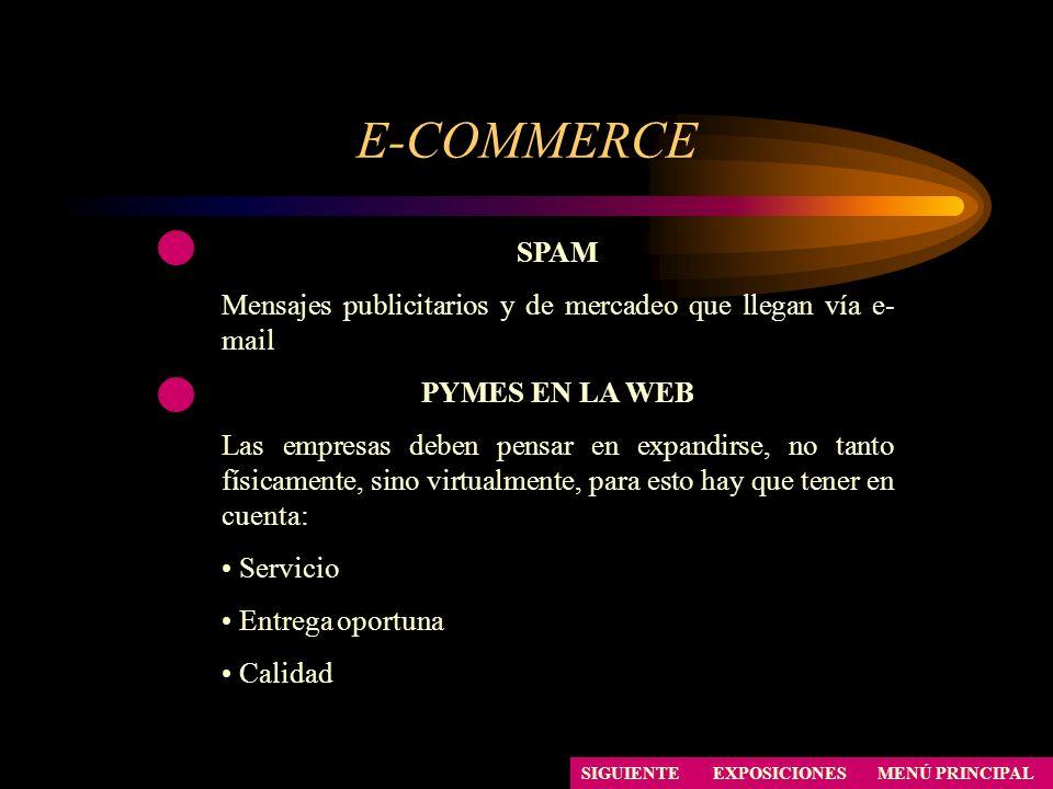 E-COMMERCE SPAM. Mensajes publicitarios y de mercadeo que llegan vía e-mail. PYMES EN LA WEB.