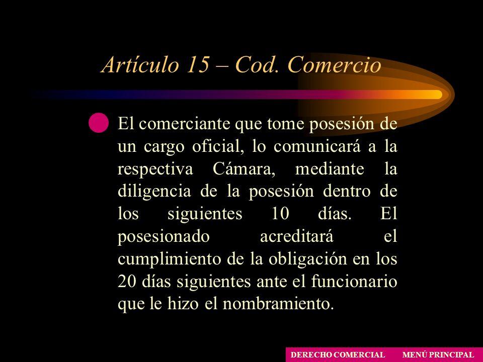 Artículo 15 – Cod. Comercio