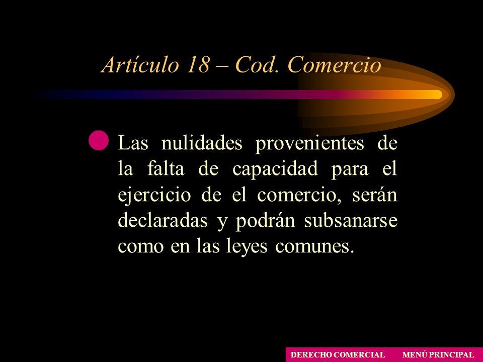 Artículo 18 – Cod. Comercio