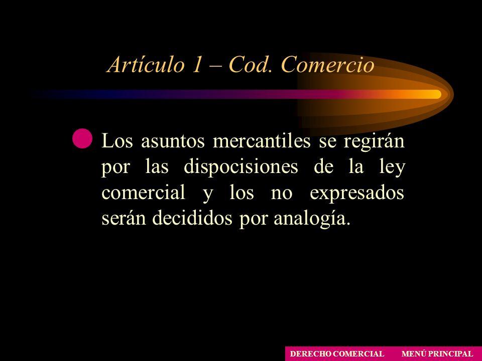 Artículo 1 – Cod. Comercio