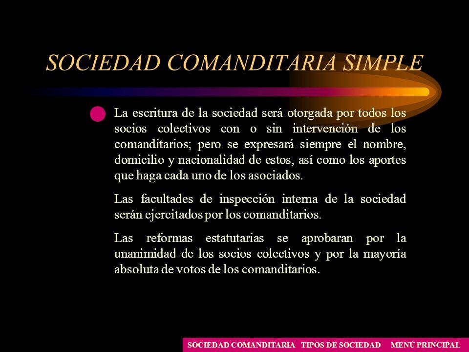SOCIEDAD COMANDITARIA SIMPLE