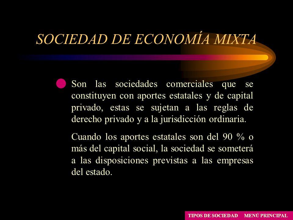 SOCIEDAD DE ECONOMÍA MIXTA