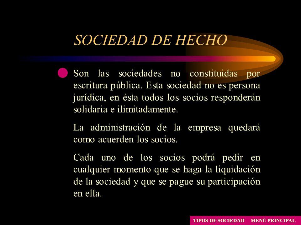 SOCIEDAD DE HECHO