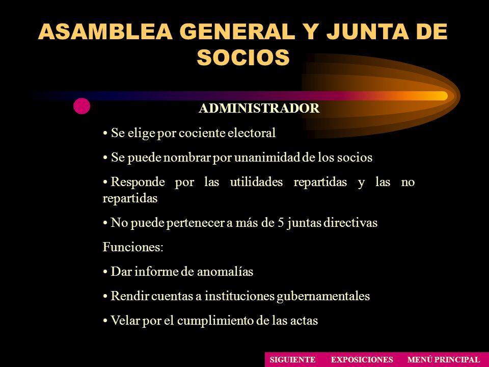 ASAMBLEA GENERAL Y JUNTA DE SOCIOS
