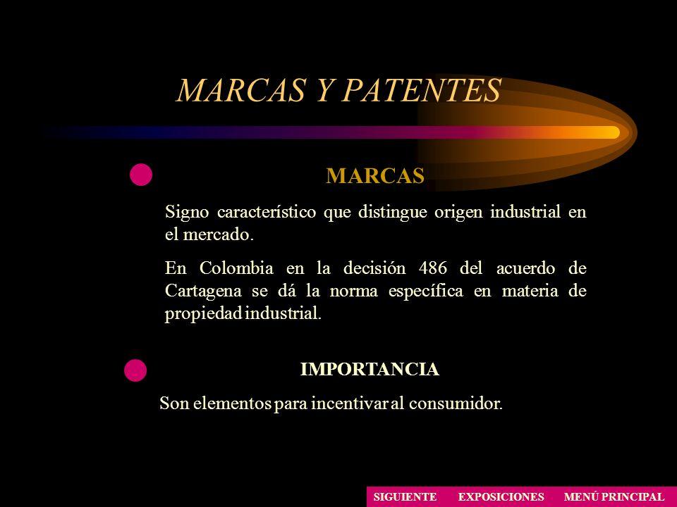 MARCAS Y PATENTES MARCAS