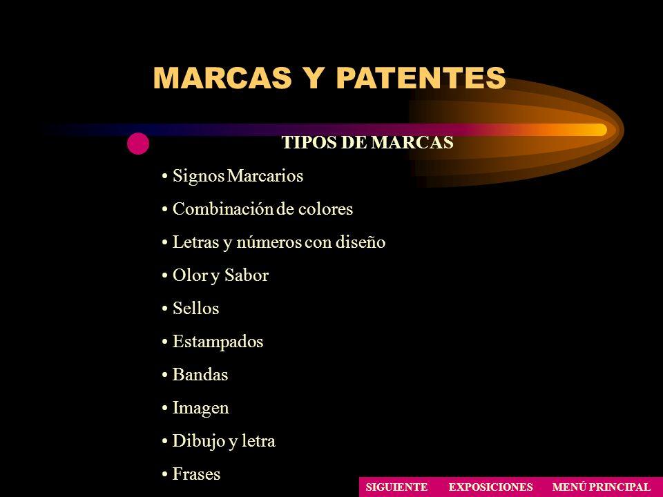 MARCAS Y PATENTES TIPOS DE MARCAS Signos Marcarios