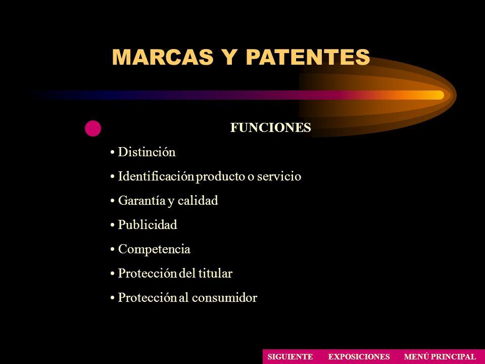 MARCAS Y PATENTES FUNCIONES Distinción