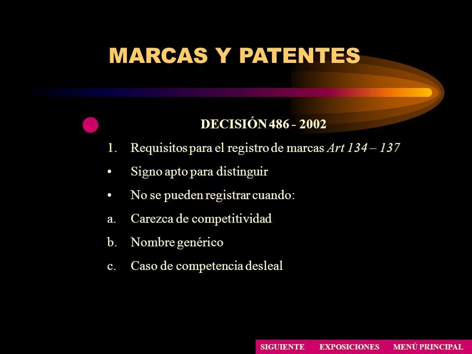 MARCAS Y PATENTES DECISIÓN 486 - 2002