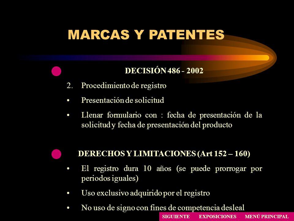 DERECHOS Y LIMITACIONES (Art 152 – 160)