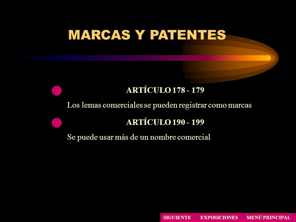 MARCAS Y PATENTES ARTÍCULO 178 - 179