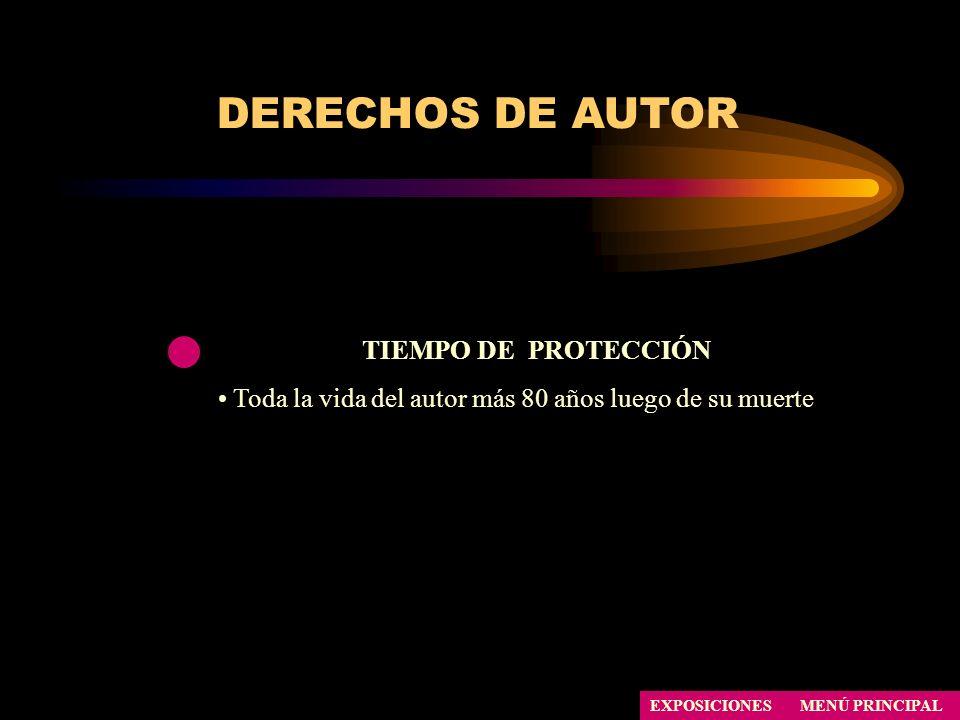 DERECHOS DE AUTOR TIEMPO DE PROTECCIÓN