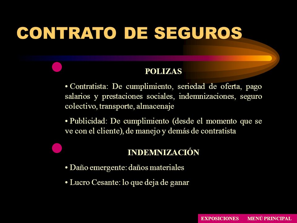 CONTRATO DE SEGUROS POLIZAS