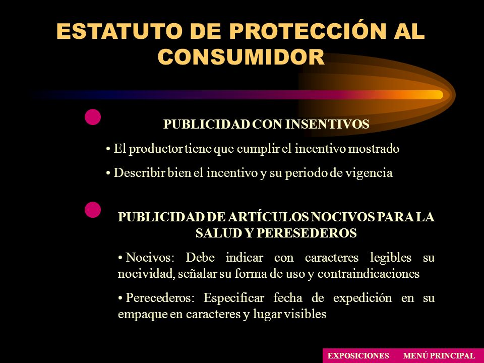 ESTATUTO DE PROTECCIÓN AL CONSUMIDOR