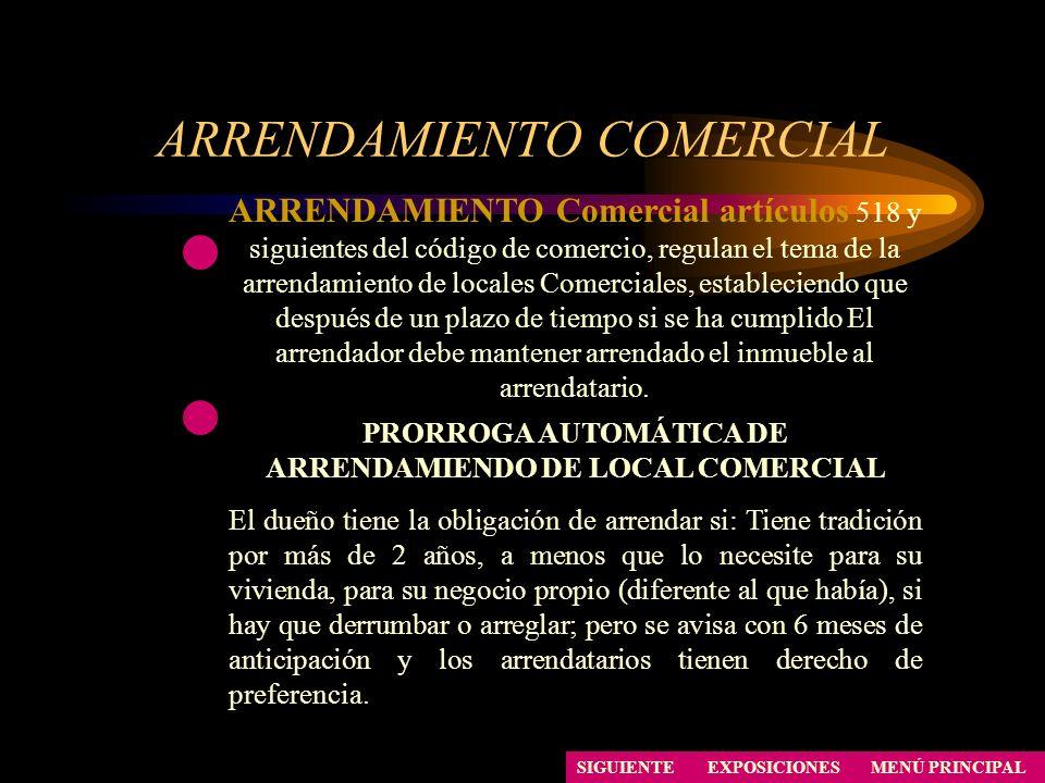 ARRENDAMIENTO COMERCIAL