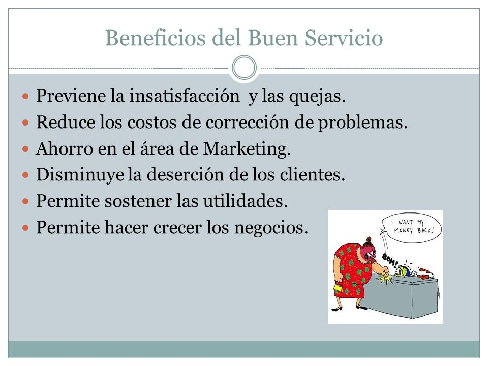 Beneficios del Buen Servicio