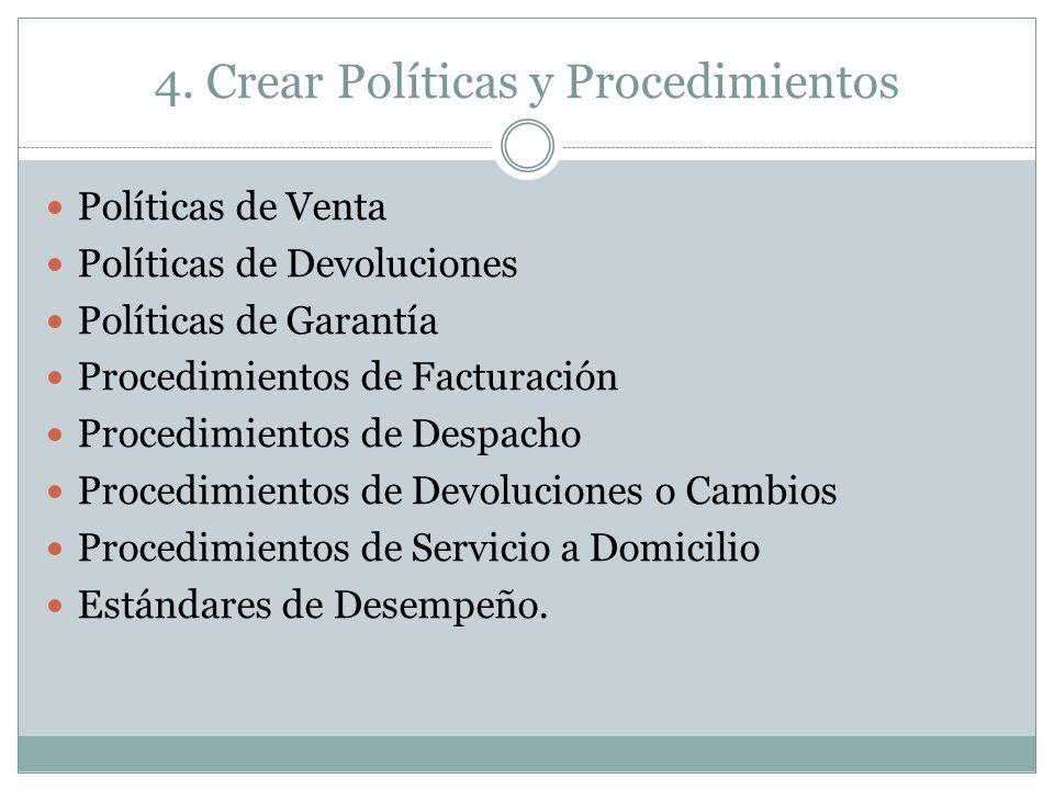 4. Crear Políticas y Procedimientos
