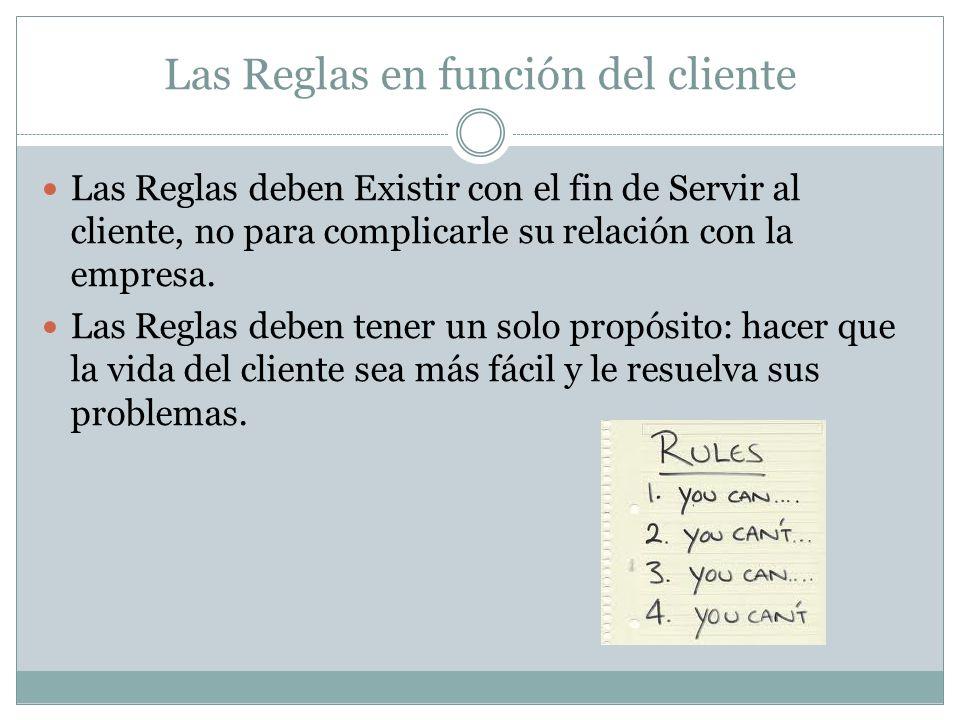 Las Reglas en función del cliente