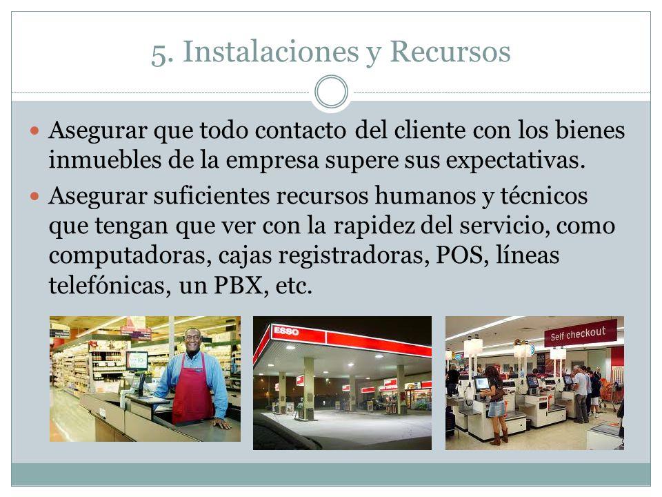 5. Instalaciones y Recursos