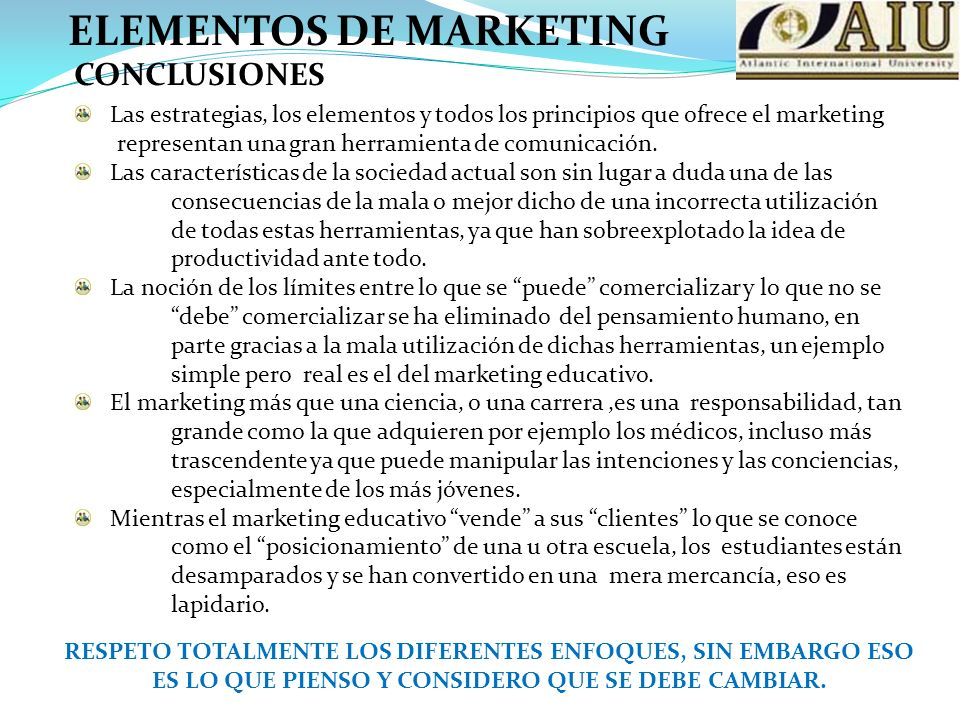 ELEMENTOS DE MARKETING