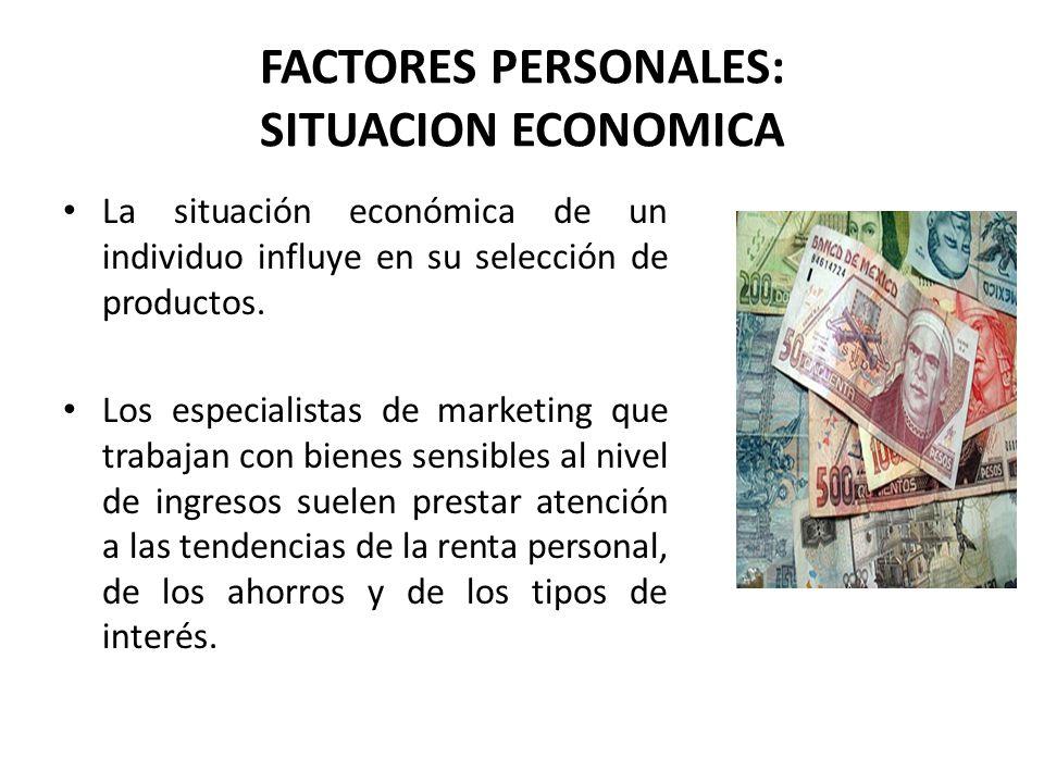 FACTORES PERSONALES: SITUACION ECONOMICA