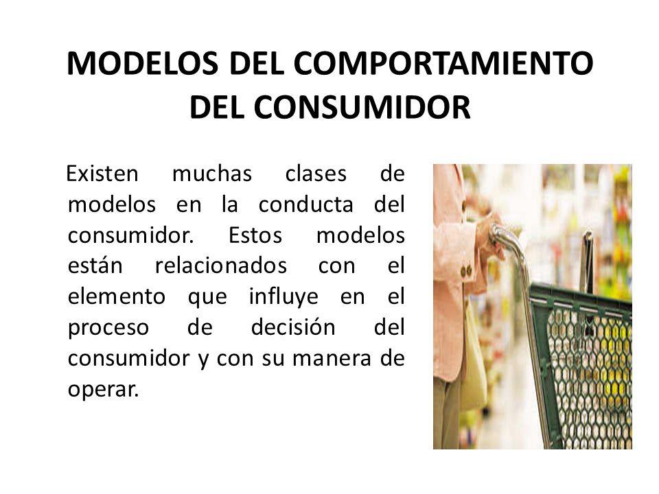 MODELOS DEL COMPORTAMIENTO DEL CONSUMIDOR