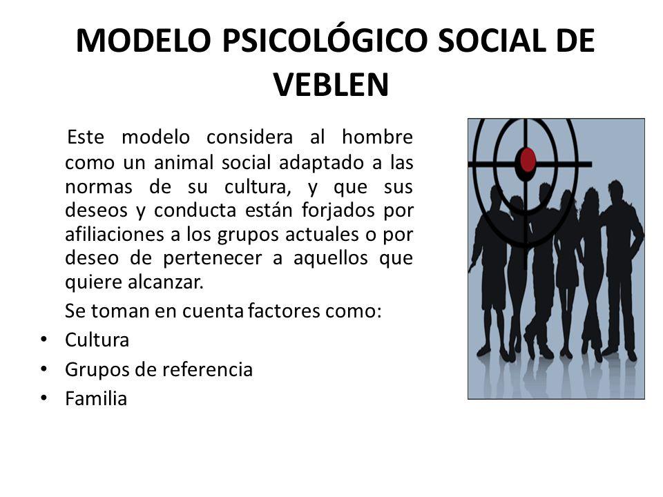 MODELO PSICOLÓGICO SOCIAL DE VEBLEN