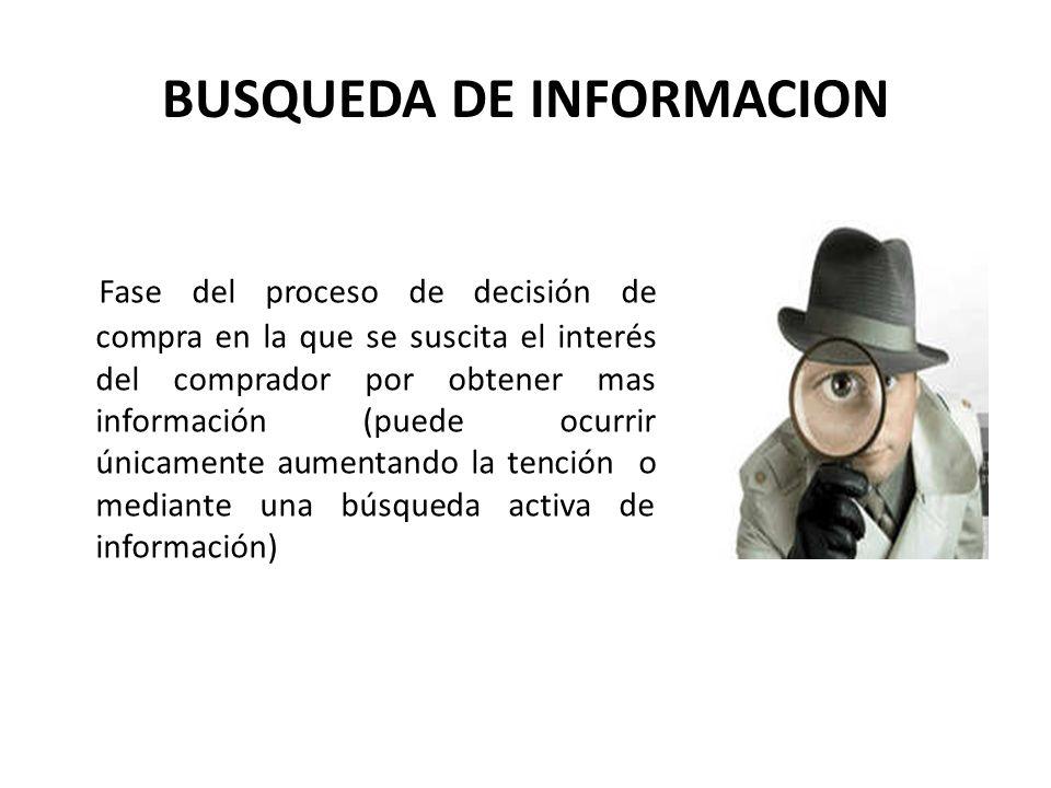 BUSQUEDA DE INFORMACION