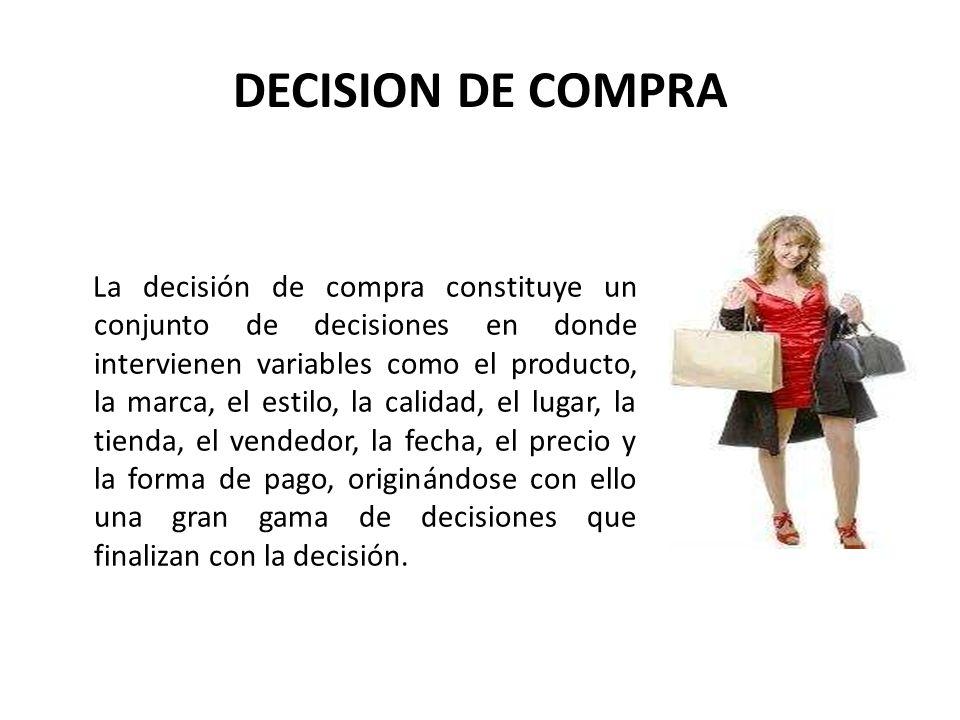 DECISION DE COMPRA