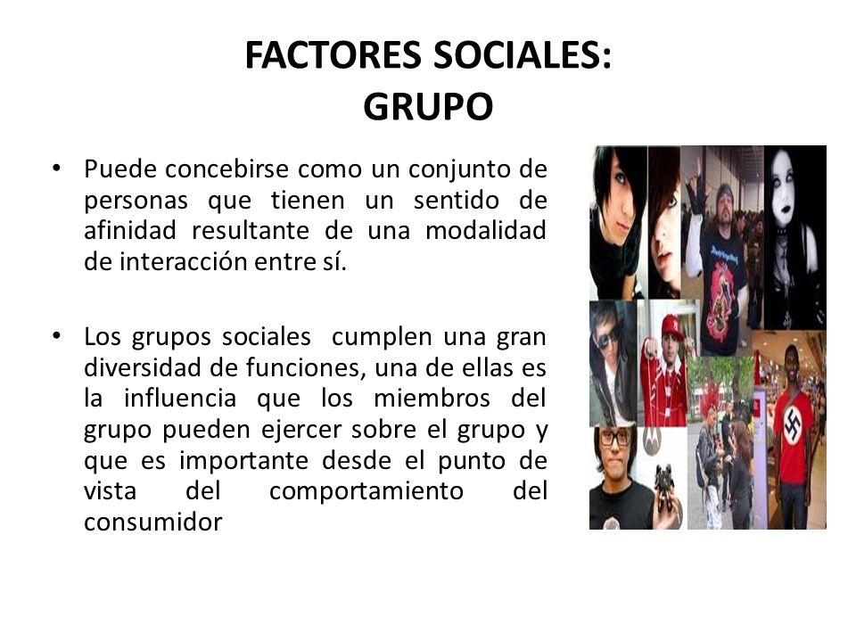 FACTORES SOCIALES: GRUPO