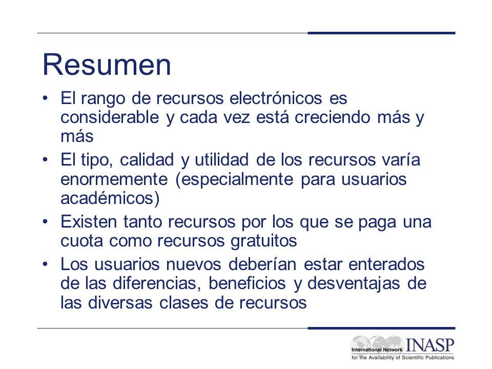 INASP Cascading Workshop: Electronic Journals and Electronic Resources Library Management: Electronic Resources Review