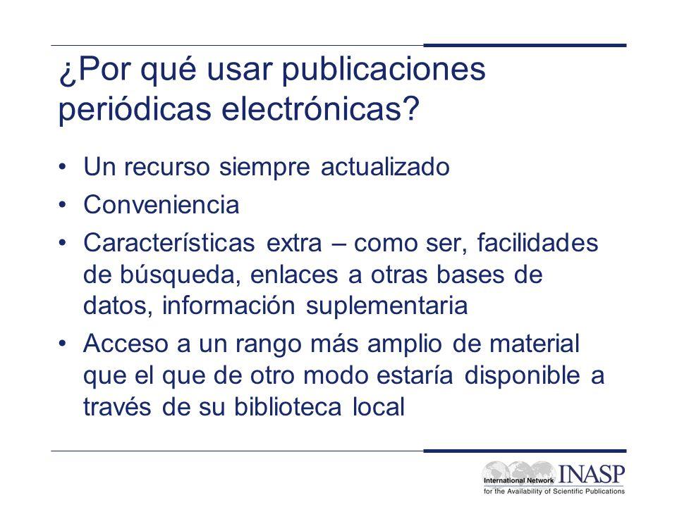 ¿Por qué usar publicaciones periódicas electrónicas