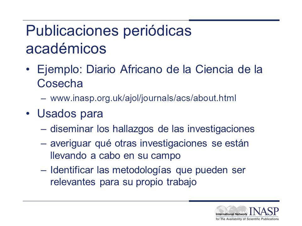 Publicaciones periódicas académicos