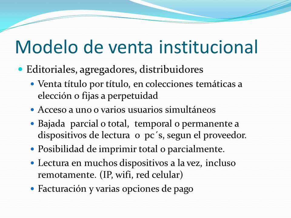 Modelo de venta institucional