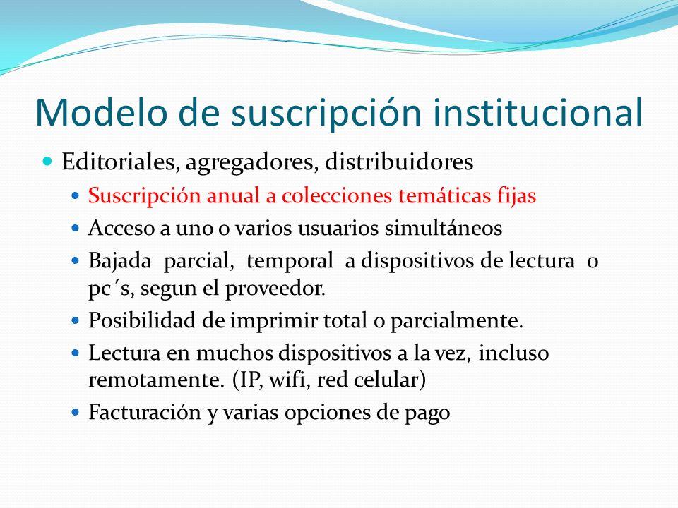 Modelo de suscripción institucional